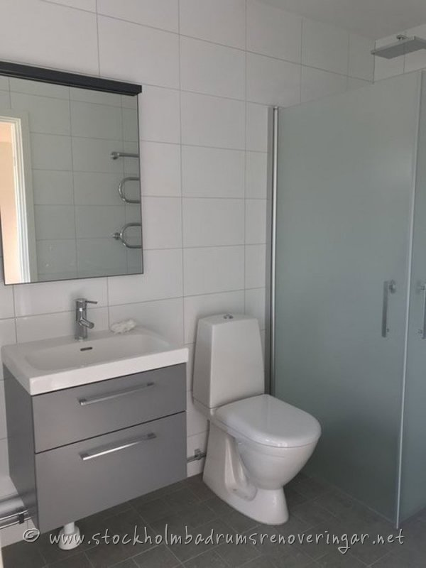 Nybyggt badrum i Stockholm