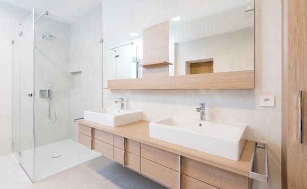 nyrenoverat badrum i Stockholm