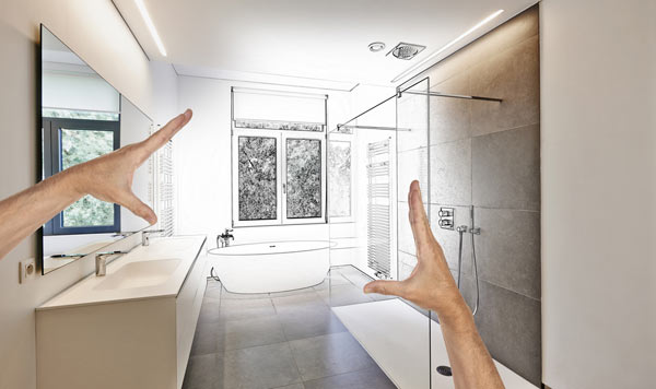 planering inför nytt badrum