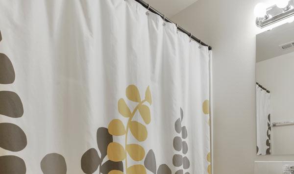 snygga duschdraperier i hållbara material