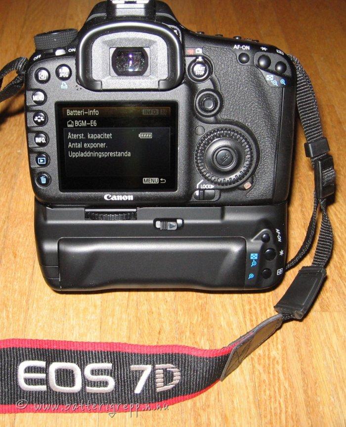 Canon EOS 7D med batterigrepp motsv. BG-E7