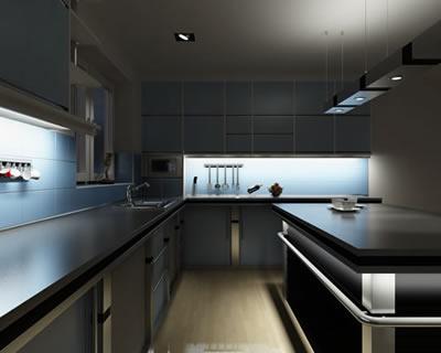 Exempel på LED belysning i kök