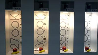 Jämför färgtemperaturer ljus