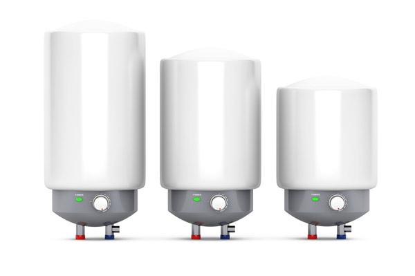 tre olika varmvattenberedare