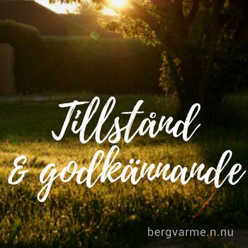 Tillstånd och godkännande, vy över trädgård mot granntomt