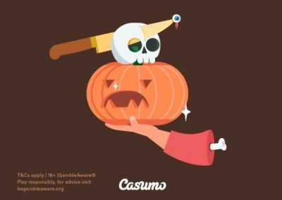 join the halloween races at casumo with cash prizes