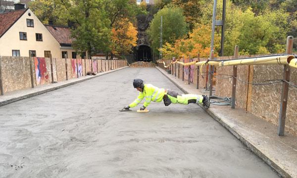 vi arbetar med betong