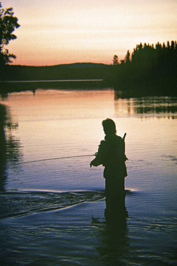 fiska med fiskespö