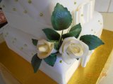 sugarpaste rosebuds and leafs