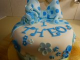 boy teddy birthday cake