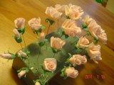 handgjorda rosor av flowerpaste