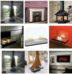 تعدادی از مدل های کلاسیک , رومی و آنتیک از محصولات شومینه گازی