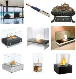 شومینه های شیشه ای و با طراحی انتزاعی