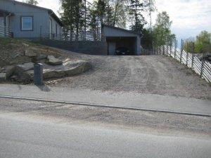 asfalt, uppfart