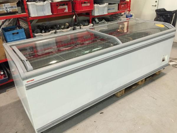 Frysbox med glaslock bild utan ljus