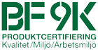 BF9K Produktcertifiering, Kvalitet, Miljö, Arbetsmiljö
