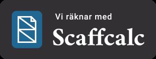 Vi räknar med Scaffcalc.