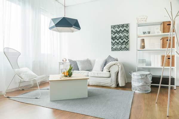 vardagsrum i mindre lägenhet
