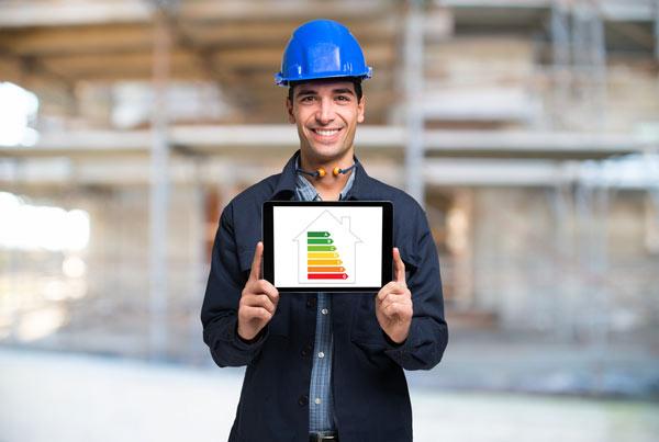 förman med energidiagram