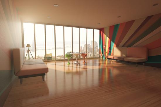 Snyggt golv i lägenhet