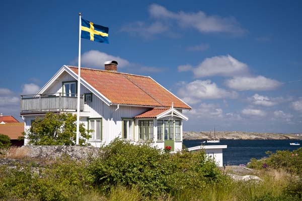 hus i Stockholms skärgård