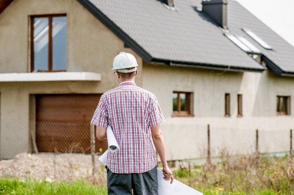 bygge, byggarbetare, hus, ID06