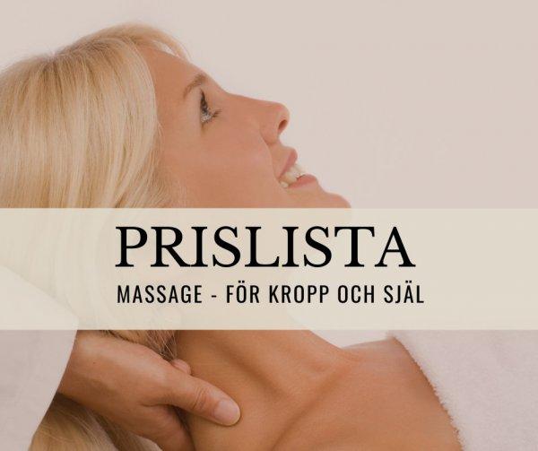 Prislista massage i Uddevalla och Kungshamn.