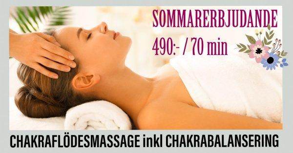 Erbjudande chakraflödesmassage enligt Ambres tekniker