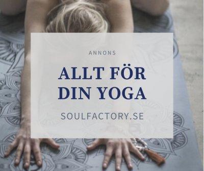 Köp yogamatta och kläder för yoga.
