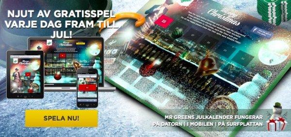 Free spins kalender hos svenska casinot MrGreen!