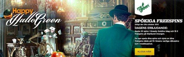 Det svenska casinot MrGreen firar HalloGreen!