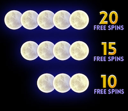 Free spins scatters