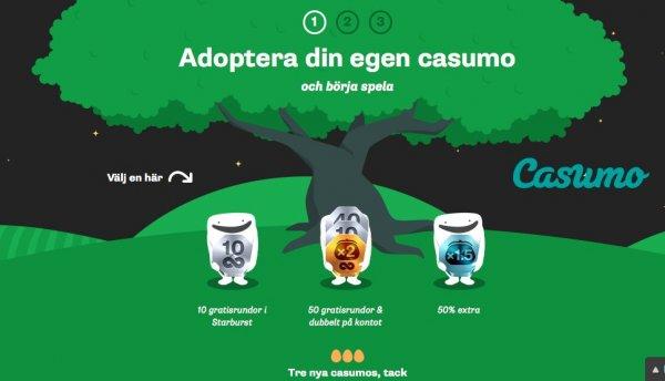 Få free spins och bonusar hos Casumo!