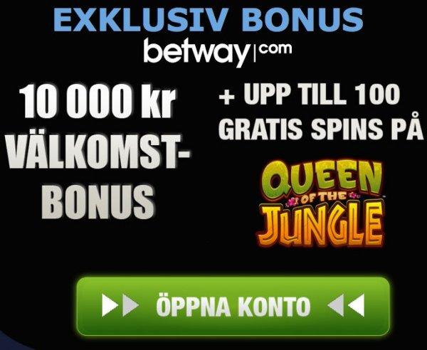 Spela casino online hos Betway!