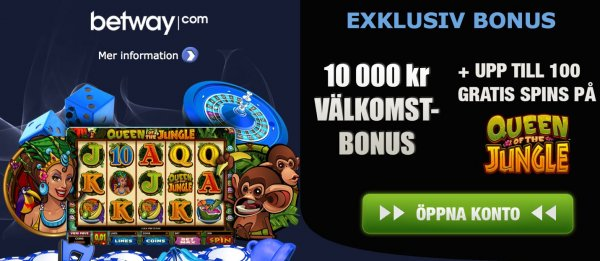 Casino online bonus hos Betway!