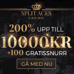Split Aces gratissnurr och bonus