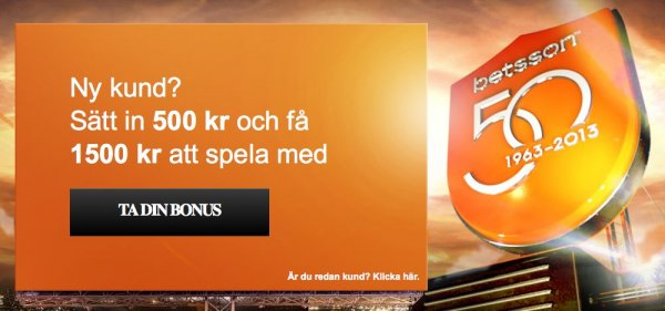 Det svenska casinot Betsson firar 50 år i branchen!