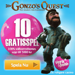 Casino online bonus hos Vera&John!