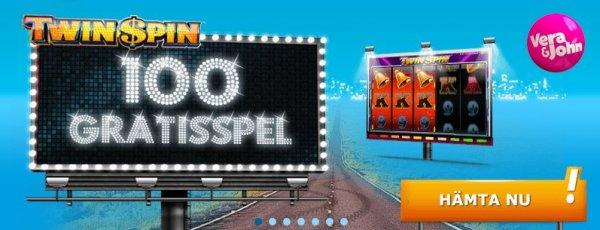 Svenska casinot Vera&John ger bort 100 free spins!