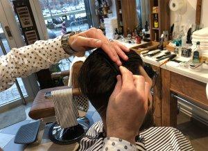 frisör, barberare, klippning