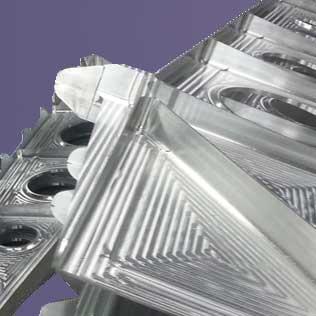 pièce d'aerotructure en aluminimm usinée