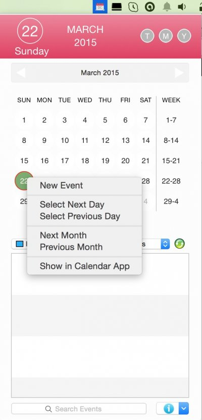 Desktop Calendar for Mac - Preview