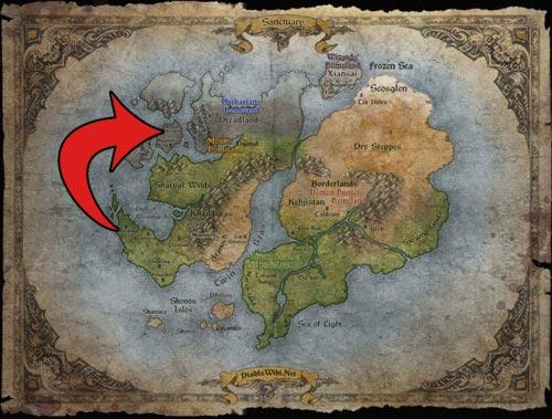 Karta över Sanctuary