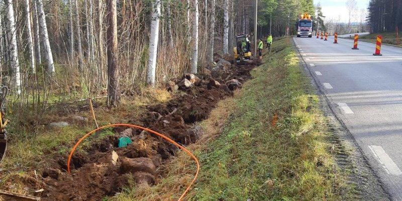 Jobb för att anlägga enskilt avlopp i Norrbotten samt dränering.