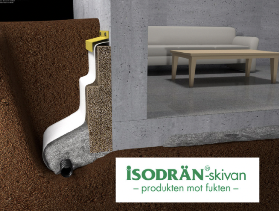 Vi använder Isodrän skivor mot fukt och vid dränering i Dalarna.