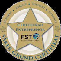 Vi är certifierade inom källardräneringar av Fuktspärteknik.