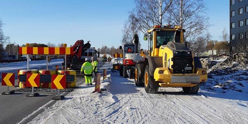 Markarbete samt dränering i Norrbotten utförs av bolaget.
