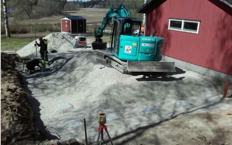 Vi hjälper husägare med dränering i Dalarna.