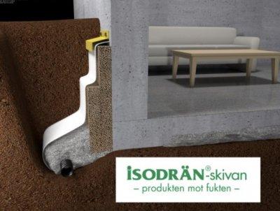 Vi använder Isodrän skivor för isolering mot fukt vid dränering i Västerås.