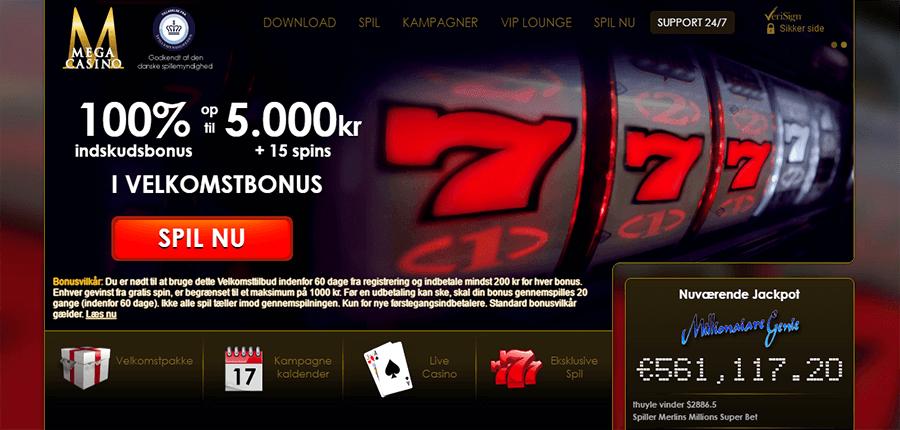 Mega-Casino-Velkomstbonus